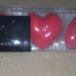 Κεριά Νέο σχήμα καρδιάς Ikea