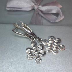 Earrings are made of silver 925, weight 3.48 g