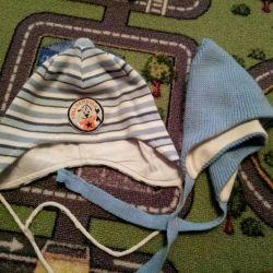Шапочки на хлопковой подкладке