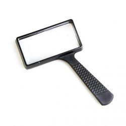 Magnifier with handle Veber 10050, 2x-4x, 100x50 mm