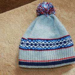3-5 yıl boyunca yünlü çift sıcak şapka.