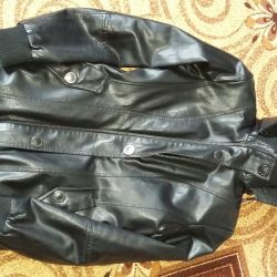 Warm leather raincoat44-46-SIZE