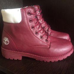 Boots din piele de iarnă 36,38 mic pe 1-2