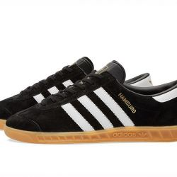 Adidas Hamburg Suede Black and White