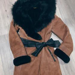 Sheepskin coat natural 42rr BILGIN'S