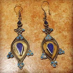Unique oriental decorations. Afghan Earrings