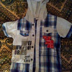 Рубашка детская,летняя