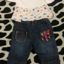 Jeans and blouse 3-6м