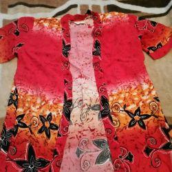 Set (Bathrobe, shirt)