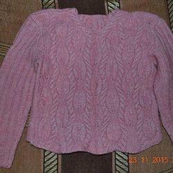 Jachetă foarte caldă și caldă pentru o fată legată