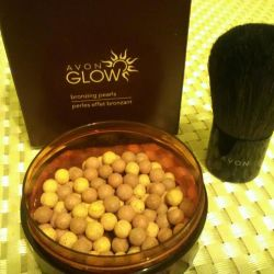 Пудра-шарики бронза,цвет загара
