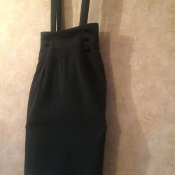 Pencil skirt with straps