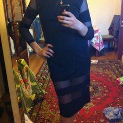 Черное платье трикотажное