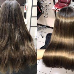 Keratin hair restoration-hair straightening