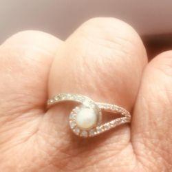 Inel aur 585 standart cu perle