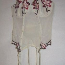 Corset with attachments for stocking