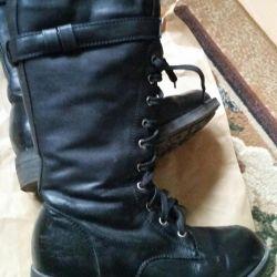 Μπότες. Φυσικό δέρμα και γούνα