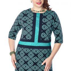 Stunning dress-tunic of direct silhouette