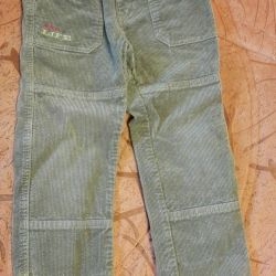 Corduroy pants for a boy 110