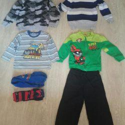 Ζεστά ρούχα για μέγεθος αγοριού 98