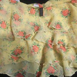 Μίνι φούστα με μανίκια φως σιφόν H & M