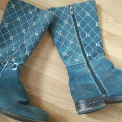 Boots on the girl suede, 36-37 size