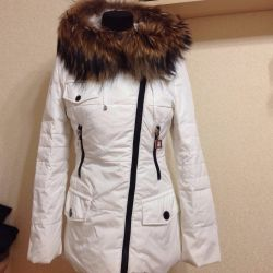 Jacket for down. Natural fur 42 size