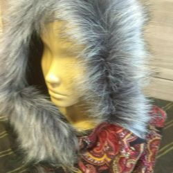 Headgear with fur, price until the end of the month