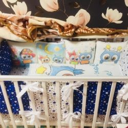 Sides, pillowcase and 2 sheets with elastic