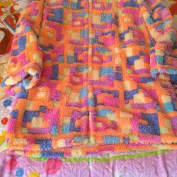 Plush bathrobe