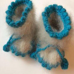 Wool winter booties 0+