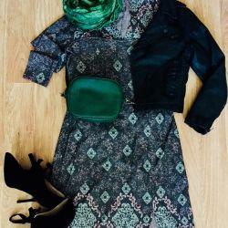 Stylish Dress, Ankle Boots, Kurt Coat