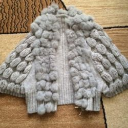 Warm jacket with natural fur