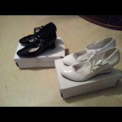 Туфли черные и белые из Квелли