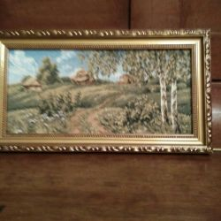 The picture is tapestry. Russian nature.