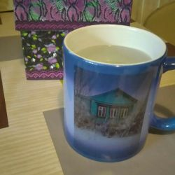 Cool mug.2 photo. Changes color from temperature