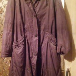 Coat plush inside, size 56-58