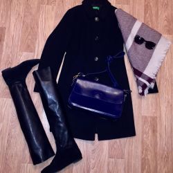 bag. leather, scarf