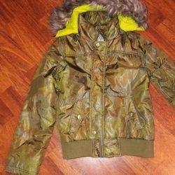 Kız için ceket, Born, haki, kullanılmış, boy 140