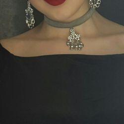 Choker + Earrings