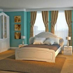 Спальный гарнитурОльгаБелый глянец