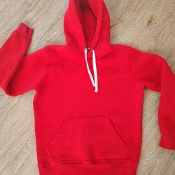 The sweatshirt is red warm