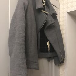 Massimo Dutti Stylish Gray Trench Coat