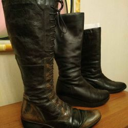 Winter boots. Genuine leather / real fur.