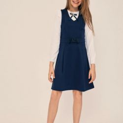 School dress with a bow