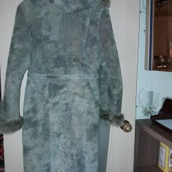 Winter coat with hood and belt
