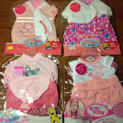 New clothes for baby born dolls