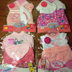 Bebek doğmuş bebekler için yeni kıyafetler