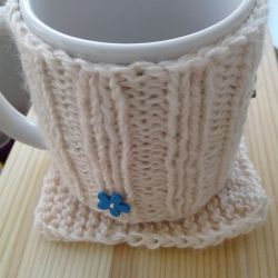 Gift set (mug in clothes + stand)