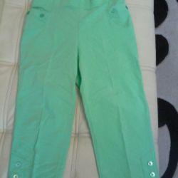 Capri pants. 48-50 at the waist elastic.
